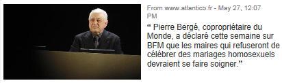 Pierre Bergé veut faire soigner les maires
